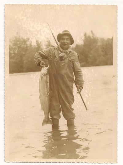 Raymond Pourrut, grand pêcheur du Gave d'Oloron