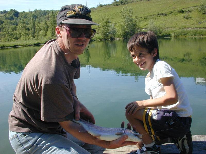 pêche à la mouche enfants