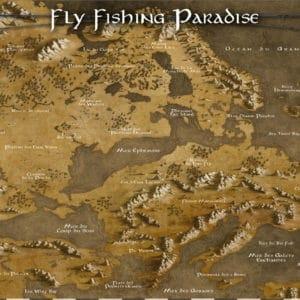 carte de pêche décorative